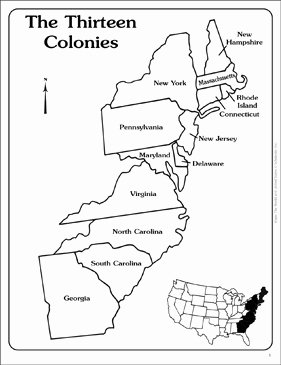 13 Colonies Map Worksheet Beautiful Maps Of the Thirteen Colonies Blank and Labeled