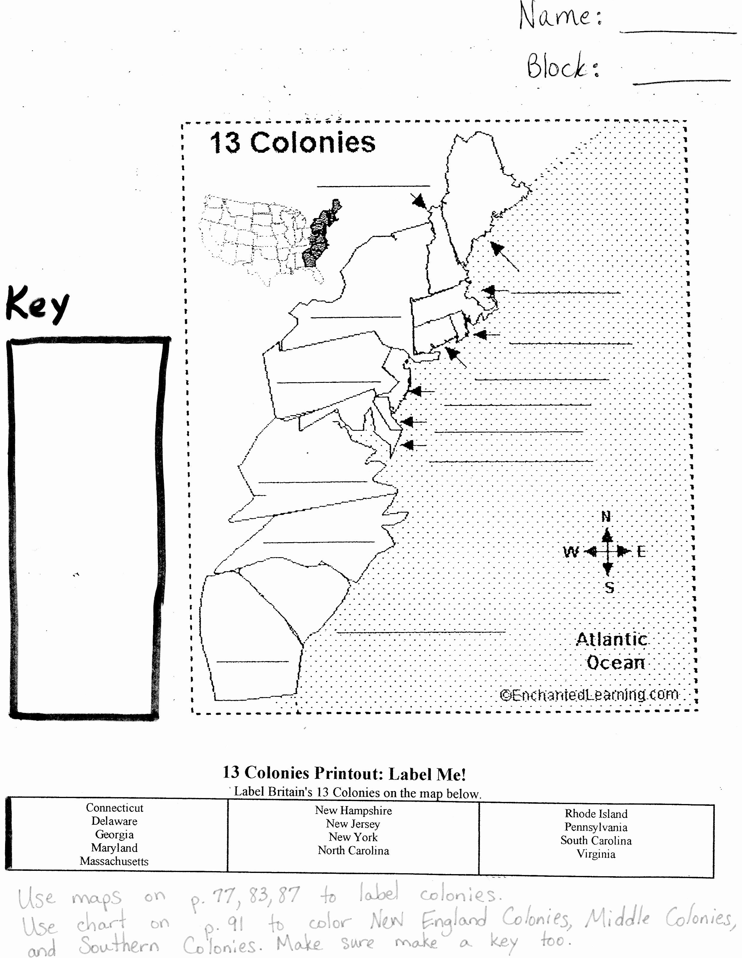 13 Colonies Map Worksheet Lovely 13 Colonies Blank Map Game