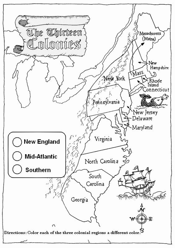13 Colonies Map Worksheet New 13 Colonies Activity Worksheets
