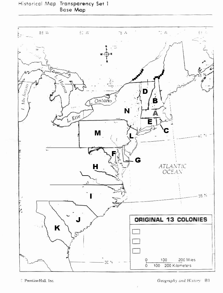 13 Colonies Map Worksheet New Map Of 13 Colonies Unlabeled
