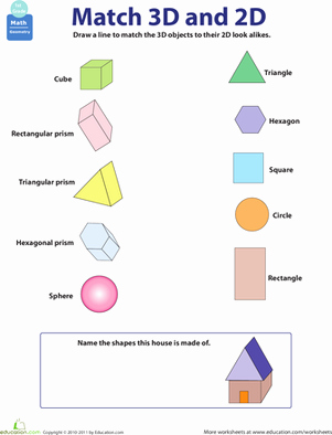 2 Dimensional Shapes Worksheet Beautiful 2d and 3d Shapes Worksheet