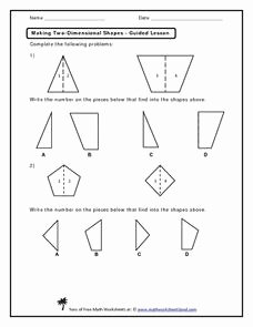 2 Dimensional Shapes Worksheet Beautiful Making Two Dimensional Shapes Kindergarten 1st Grade