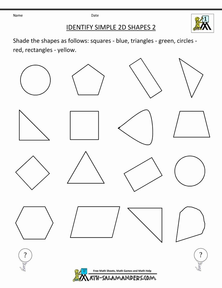 2 Dimensional Shapes Worksheet Best Of Free Printable Geometry Worksheets Identify Simple 2d