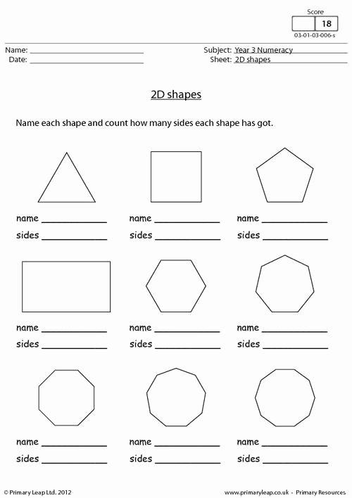 2 Dimensional Shapes Worksheet Best Of Primaryleap 2d Shapes Worksheet