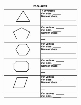 2 Dimensional Shapes Worksheet Elegant 2d Worksheets and Shape On Pinterest