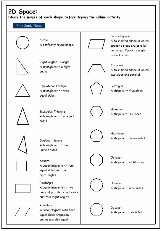 2 Dimensional Shapes Worksheet Elegant Classified Two Dimensional Shapes by their Properties