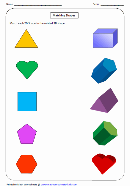 2 Dimensional Shapes Worksheet Elegant solid 3d Shapes Worksheets