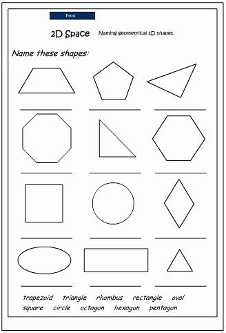 2 Dimensional Shapes Worksheet Fresh Naming 2d Shapes Studyladder Interactive Learning Games