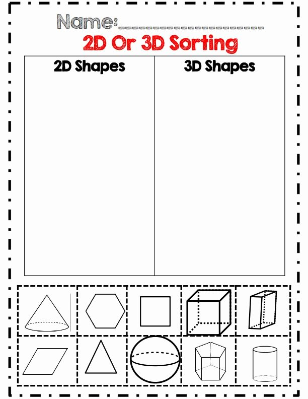 2 Dimensional Shapes Worksheet Lovely Two Dimensional Shapes Worksheets Kindergarten the Best