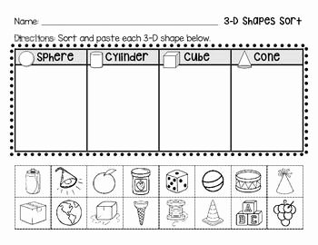 2 Dimensional Shapes Worksheet New 3 D Shapes 3d Shapes