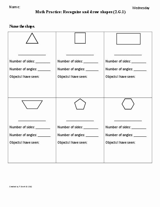 2 Dimensional Shapes Worksheet New 9 Best Of 2 and 3 Dimensional Shapes Worksheets for