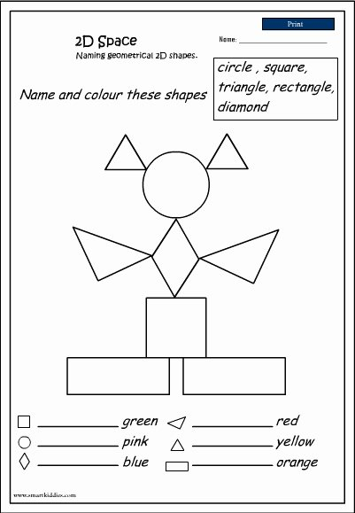 2 Dimensional Shapes Worksheet New Naming 2d Shapes Studyladder Interactive Learning Games