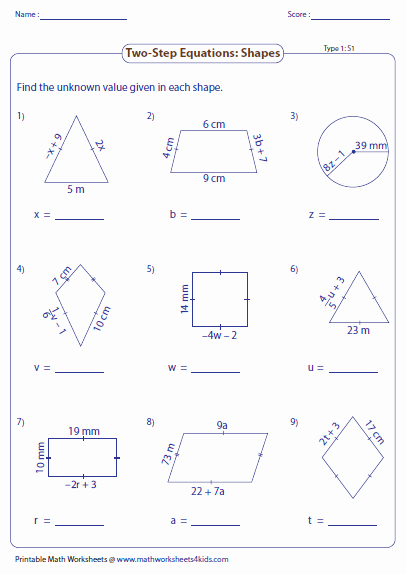 2 Step Equations Worksheet Fresh Two Step Equation Worksheets