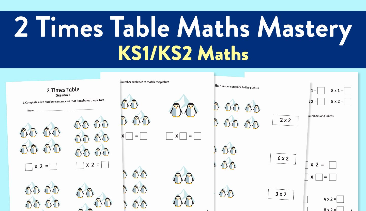 2 Times Table Worksheet Awesome Maths Mastery Worksheet for Teaching the 2 Times Table