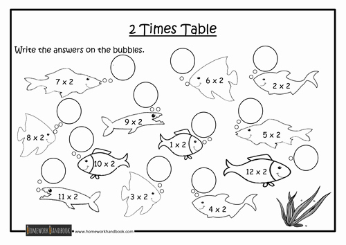 2 Times Table Worksheet Fresh 2 Times Table Worksheet by Ram