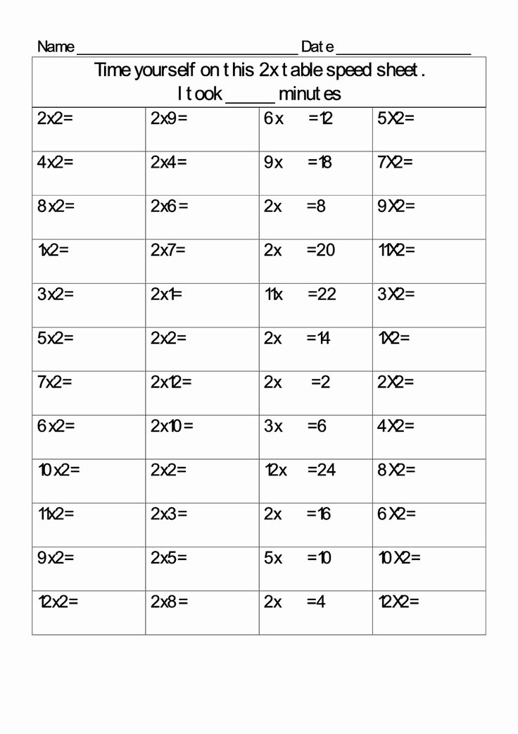 2 Times Table Worksheet Lovely 2 Times Table Worksheets Simple K5 Worksheets