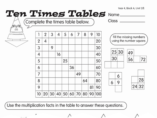 2 Times Table Worksheet Luxury Times Table Tests A Year 4 Times Tables Worksheet