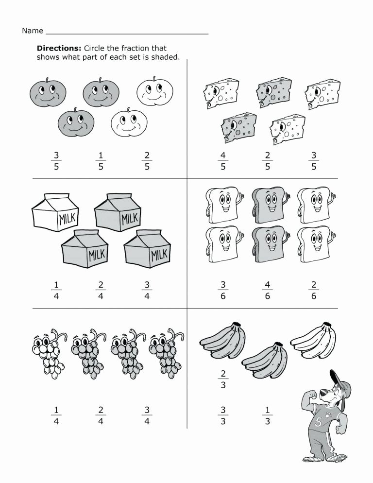 2nd Grade Fractions Worksheet Awesome 2nd Grade Math Worksheets Math Sheets for Kids