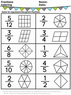 2nd Grade Fractions Worksheet Beautiful with This Free Printable Fractions Introduction Worksheet