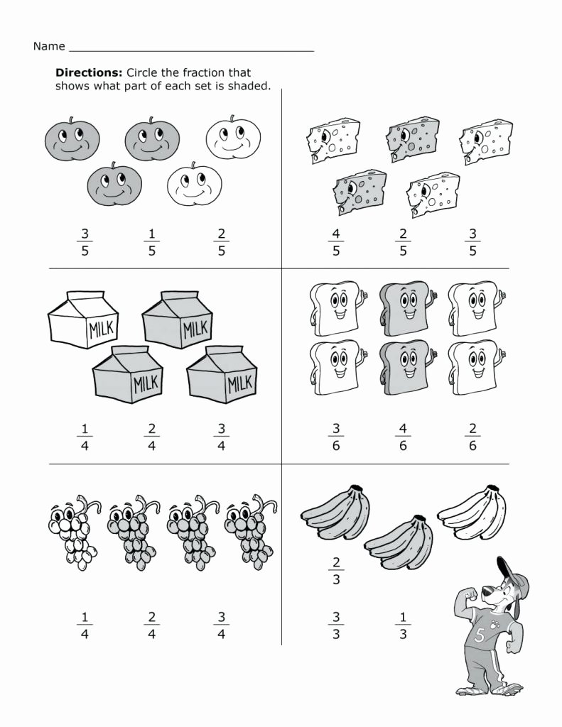 2nd Grade Fractions Worksheet Best Of 2nd Grade Math Worksheets Best Coloring Pages for Kids