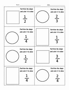 2nd Grade Fractions Worksheet Best Of Fractions Worksheet 3rd Grade