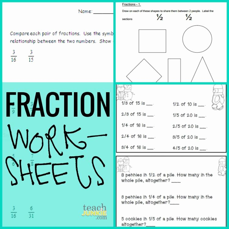 2nd Grade Fractions Worksheet Inspirational Fractions 20 Ready to Go Resources and Activities