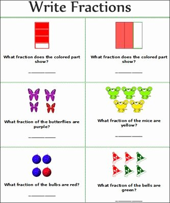 2nd Grade Fractions Worksheet Lovely Fractions Worksheets Free Printable Primary School Write