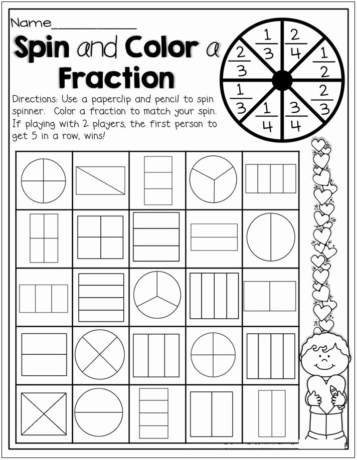 2nd Grade Fractions Worksheet Luxury 2nd Grade Math Worksheets Fractions
