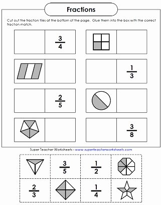 2nd Grade Fractions Worksheet New Basic Fraction Worksheets & Manipulatives
