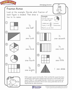2nd Grade Fractions Worksheet New Fraction Action – 2nd Grade Math Worksheets – Jumpstart