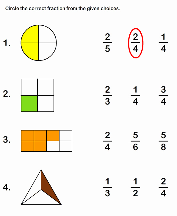 2nd Grade Fractions Worksheet Unique Fraction Math Worksheets
