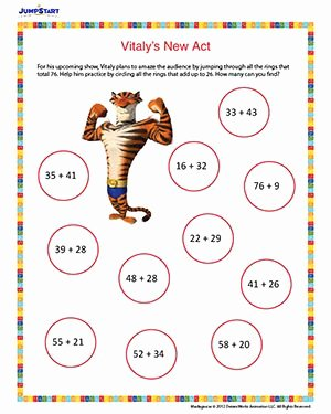 2nd Grade Geometry Worksheet Awesome Vitaly's New Act – Printable Math Worksheet for 2nd Grade