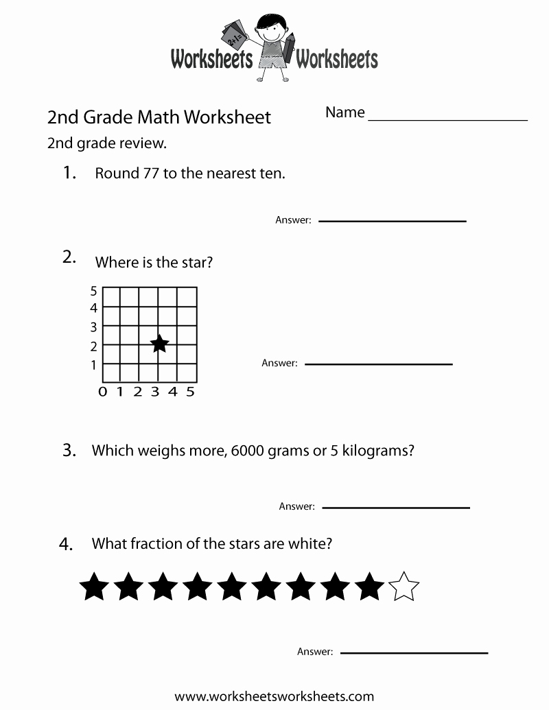 2nd Grade Geometry Worksheet Best Of Second Grade Math Practice Worksheet Free Printable