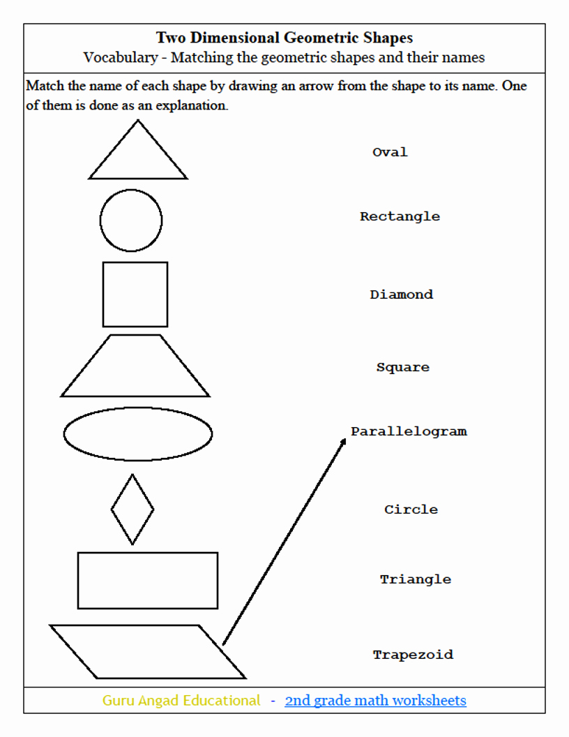 2nd Grade Geometry Worksheet New 2nd Grade Math Geometric Shapes Worksheets — Steemit