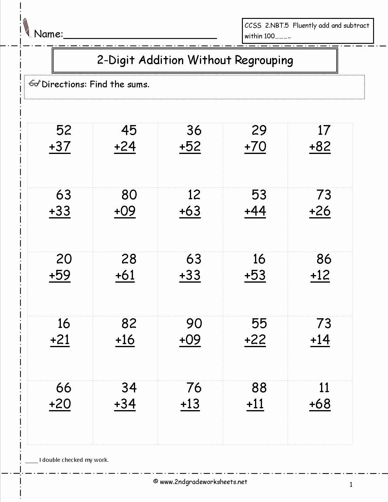 2nd Grade Math Worksheet Pdf Beautiful Free Addition Printable Worksheets