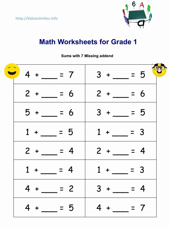 2nd Grade Math Worksheet Pdf Best Of Sum with 7 Missind Addend 652×878