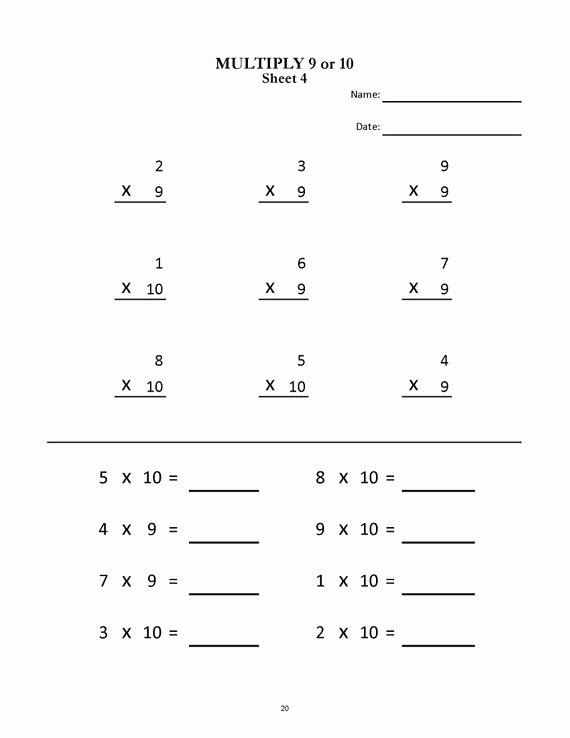 2nd Grade Math Worksheet Pdf Inspirational Multiplication Worksheets for Grade 2 & 3 20 Sheets Pdf