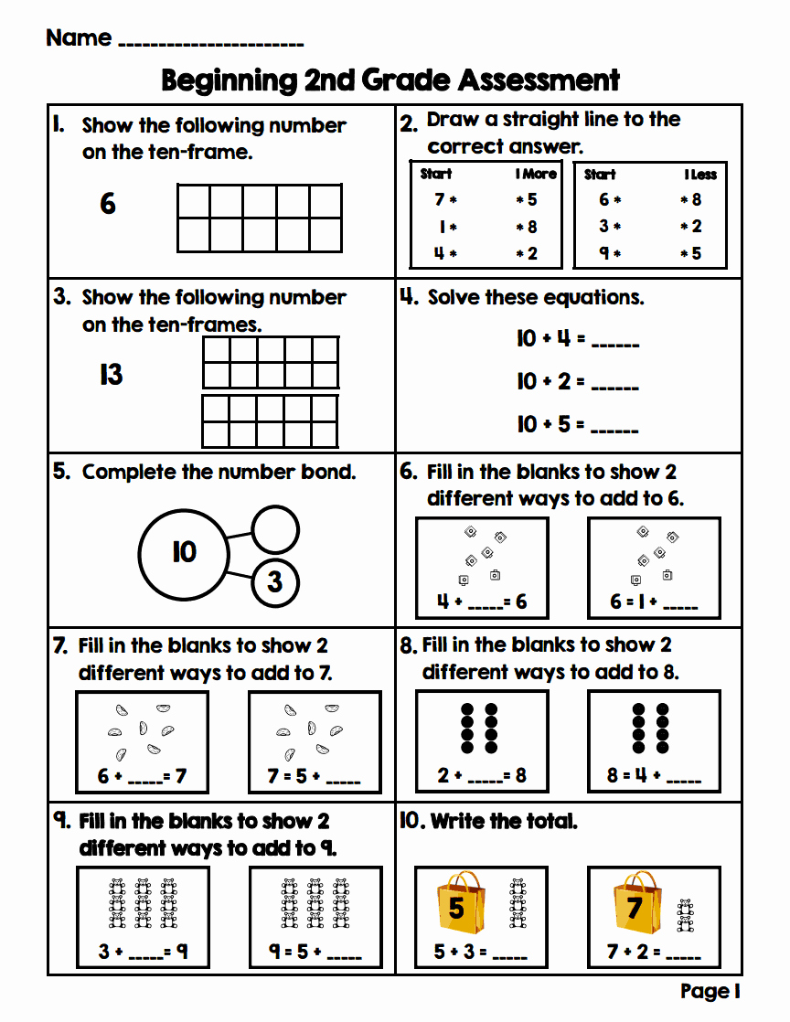 2nd Grade Math Worksheet Pdf Lovely Lory S 2nd Grade Skills Summer Blogin Math Stations