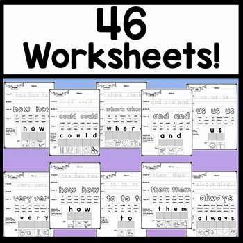 2nd Grade Sight Words Worksheet Beautiful Second Grade Sight Word Worksheets 46 Pages by Sight