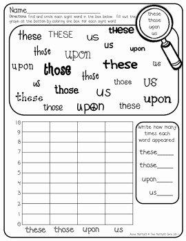 2nd Grade Sight Words Worksheet Elegant Sight Word Graphing 2nd Grade by the Moffatt Girls