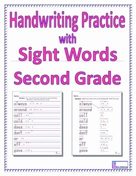 2nd Grade Sight Words Worksheet Lovely Handwriting Practice with Second Grade Sight Words by