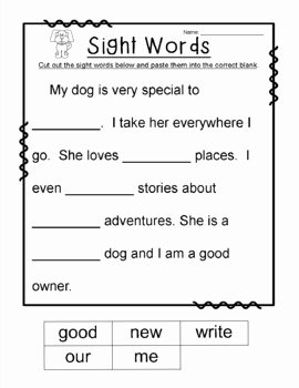 2nd Grade Sight Words Worksheet Luxury Sight Word Cloze Passages by Designed by Danielle