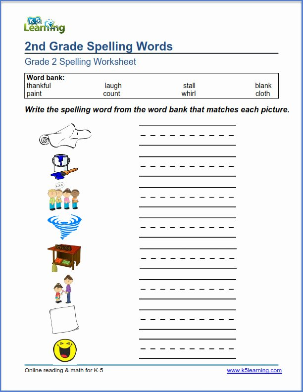 2nd Grade Vocabulary Worksheet Awesome Second Grade Spelling Worksheets