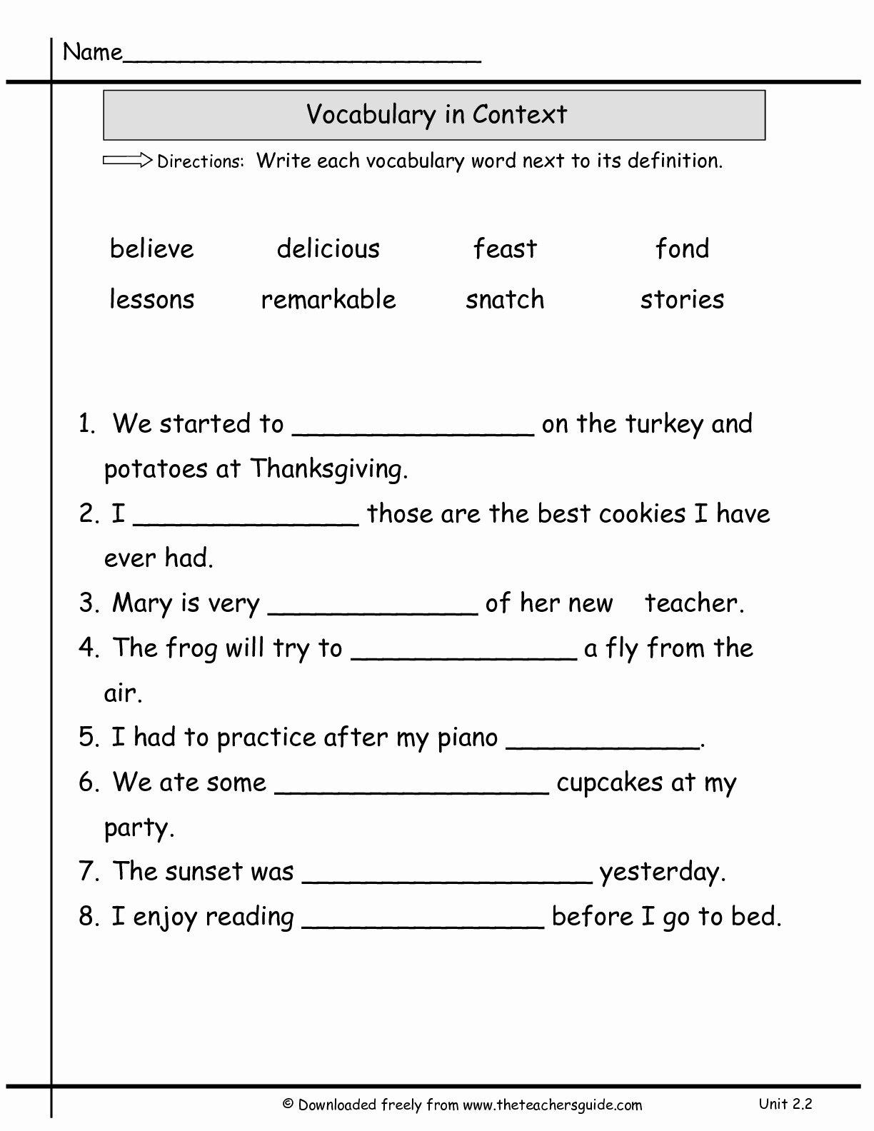 2nd Grade Vocabulary Worksheet Best Of 16 Best Of Student the Week Worksheet Student