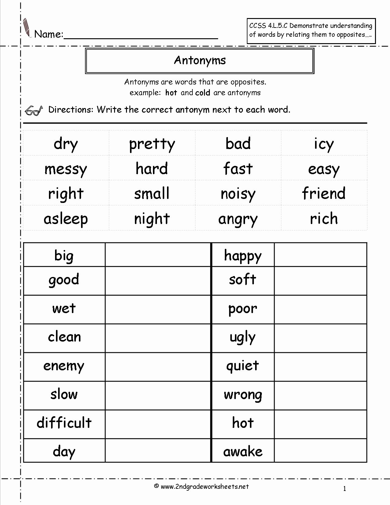 2nd Grade Vocabulary Worksheet New 9 Best Of Worksheets 4th Grade Writing Conventions