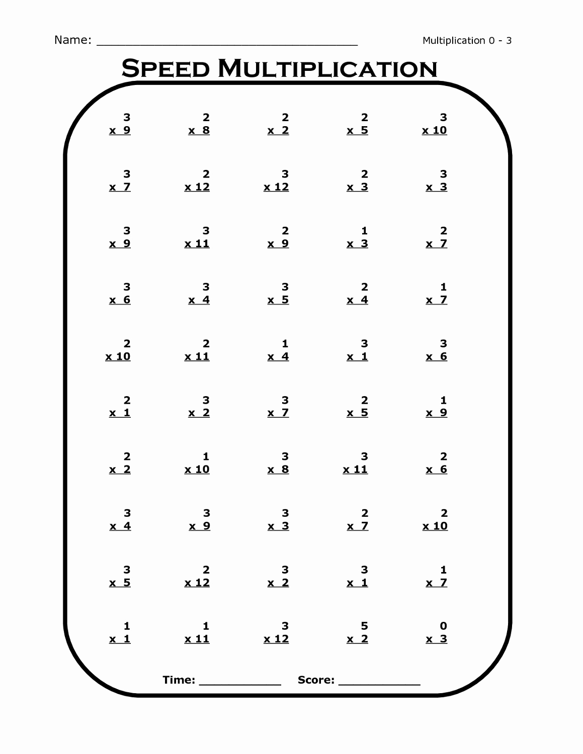 3 Times Table Worksheet Awesome Easy and Simple 3 Times Table Worksheets
