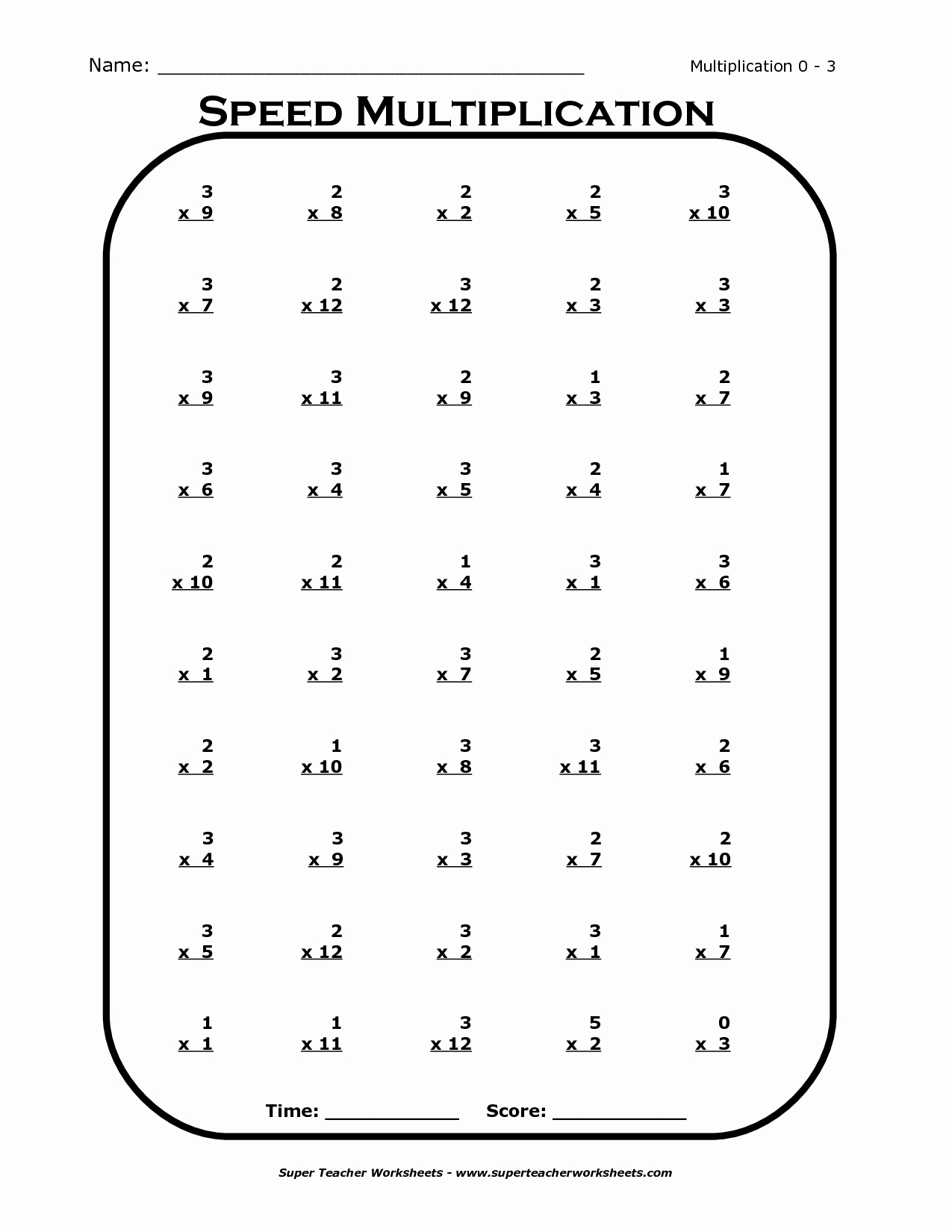 3 Times Table Worksheet Best Of Times Tables Worksheets 3rd Grade