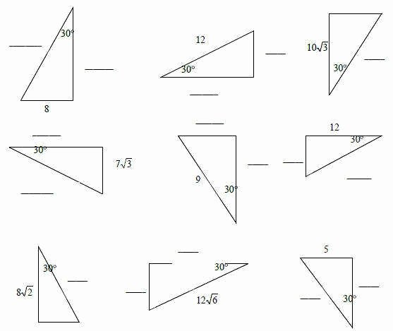 30 60 90 Triangles Worksheet Awesome 30 60 90 Triangle Worksheet