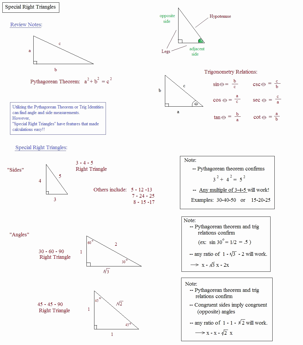 30 60 90 Triangles Worksheet Beautiful 30 60 90 Triangle Practice Worksheet with Answers