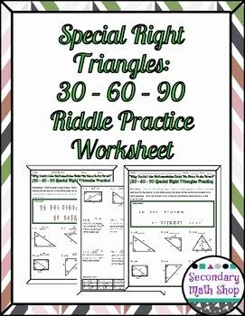 30 60 90 Triangles Worksheet Beautiful 43 Best Non Seasonal Geometry Worksheets Images On